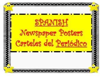 SPANISH Newspaper Posters/Carteles del Periódico