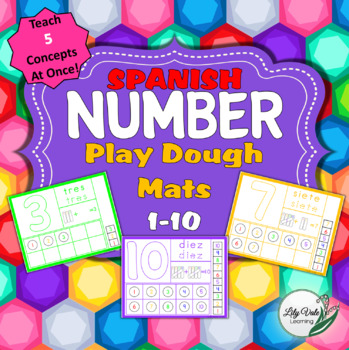 SPANISH Number Playdough Mats from LilyVale Learning