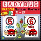 SPANISH Number Posters 0 - 10 {LADYBUG MATH}
