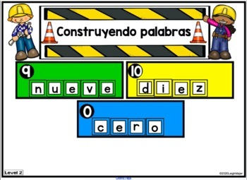 SPANISH Number Word Mix Up for SMARTboard