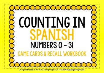 SPANISH NUMBERS 0-31 - GAMES & ACTIVITIES