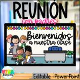 Reunión con Padres | Open House Spanish Editable Presentation PowerPont