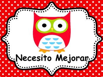 SPANISH OWL BEHAVIOR CLIP CHARTS