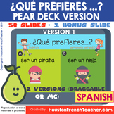 SPANISH PEAR DECK (PEARDECK) - Would you rather (Google Sl