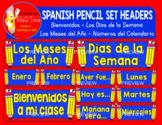 SPANISH PENCIL SET HEADERS