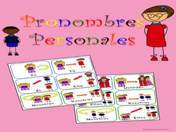 SPANISH PERSONAL PRONOUNS POSTERS AND CARDS PRONOMBRES PERSONALES