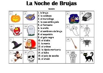 SPANISH - PICTURE MATCH - La Noche de Brujas (Halloween)