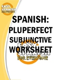 SPANISH: PLUPERFECT SUBJUNCTIVE