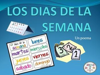 Spanish Poem: Los Dias de la Semana