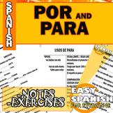 SPANISH: POR Y PARA.