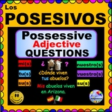 SPANISH POSSESSIVE ADJECTIVES - Personalized Questions for Spanish Class