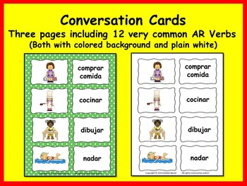 SPANISH PRESENT TENSE VERB BUNDLE: 13 Printables and 48 Conv. Cards