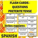Spanish preterite tense (Flash cards-questions)
