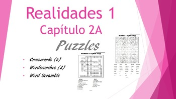 SPANISH - PUZZLES- Realidades 1 Capítulo 2A