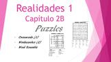 SPANISH - PUZZLES- Realidades 1 Capítulo 2B