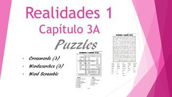 SPANISH - PUZZLES - Realidades 1 Capítulo 3A