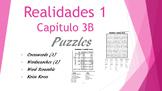 SPANISH - PUZZLES - Realidades 1 Capítulo 3B
