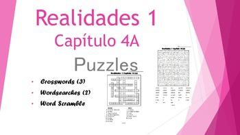 SPANISH - PUZZLES - Realidades 1 Capítulo 4A