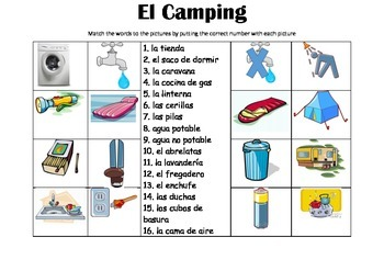 SPANISH - Picture Match - El Camping (camp-site)