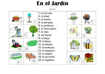 SPANISH - Picture Match - En el Jardín (In the garden)