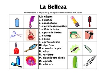 SPANISH - Picture Match - La Belleza (Beauty)