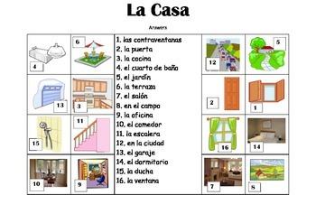 SPANISH - Picture Match - La Casa (House)