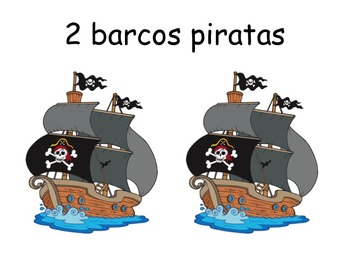 SPANISH Pirate Counting  Book: ELL