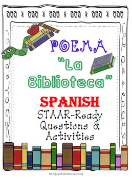 "SPANISH Poem-""La biblioteca""-Activities, Imagery & Writing-NO PREP!"