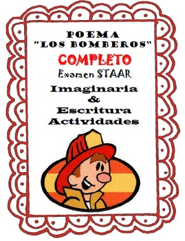 """SPANISH Poem """"Los Bomberos""""-Complete STAAR Test, Imagery &"""