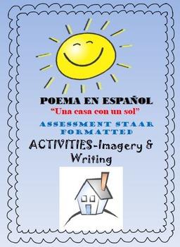 "SPANISH Poem-""Una casa con un sol"" Complete Imagery & Writ"