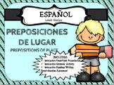 SPANISH - Prepositions of Place -PREPOSICIONES DE LUGAR