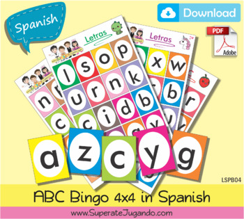 photo about Loteria Printable identified as SPANISH Printable Alphabet Bingo / Loteria Abecedario en ESPAÃ'OL para imprimir