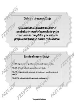 SPANISH Project: El Menú