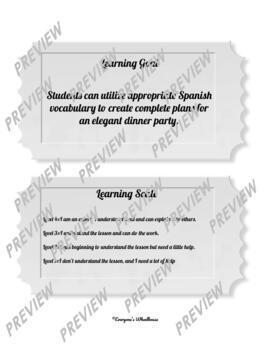 SPANISH Printable Project: Una Cena Elegante