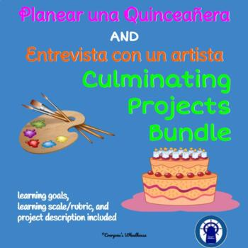 SPANISH Projects Bundle: Culminating Projects for Arte and Quinceañera