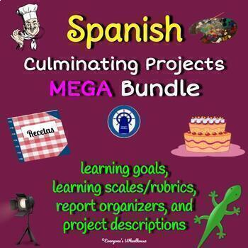 SPANISH Projects MEGA Bundle:  SEVEN Culminating Projects