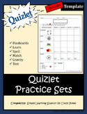 QUIZLET PRACTICE SETS *Spanish Template