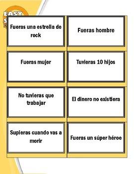 SPANISH: ¿Qué harías si...? (Flash cards-questions / conditional)