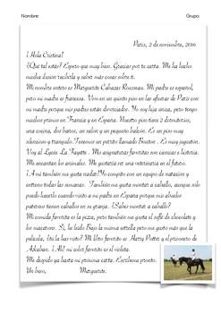 4 SPANISH READINGS: AMIGOS POR CARTA (PRESENTACIONES + MIS AMIGOS Y YO)
