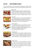 SPANISH READING: COMIDA INTERNACIONAL