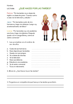 SPANISH READING: CÓMO VAS AL COLEGIO