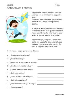 SPANISH READING: CONOCEMOS A...