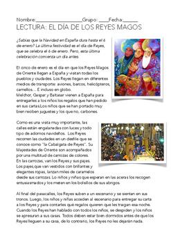 SPANISH READING: EL DÍA DE REYES