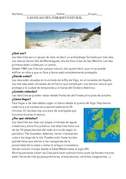 SPANISH READING ISLA CIES