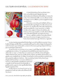 SPANISH READING: LEYENDA DE NIAN