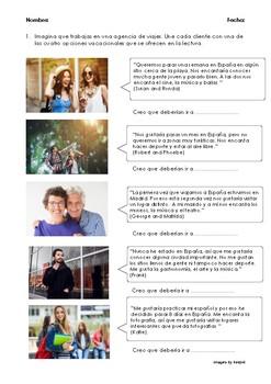 SPANISH READING: PLANES DE VERANO