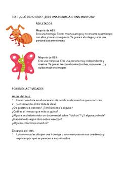 SPANISH READING: TEST ¿ERES PERRO O GATO?
