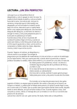 SPANISH READING: UN DIA PERFECTO