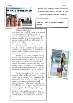 SPANISH READING / LECTURA: UN VIAJE ACCIDENTADO