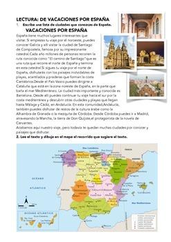 SPANISH READING: VACACIONES POR ESPAÑA